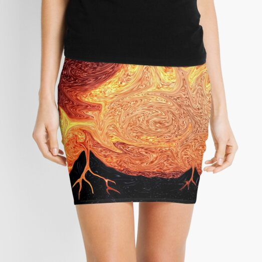 How Volcanoes are Made with Sky Lava Mini Skirt