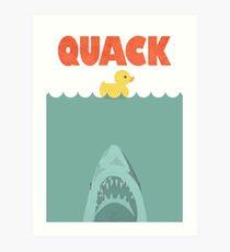Jaws Rubber Duck 'Quack'  Art Print