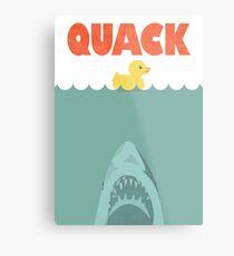 Jaws Rubber Duck 'Quack'  Metal Print