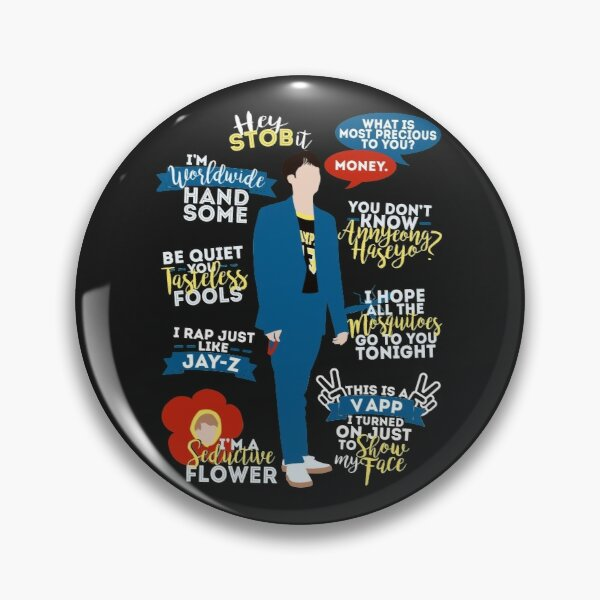 BTS Jin Quotes Pin