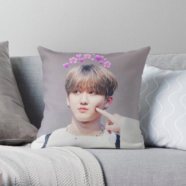 Changbin Stray Kids 3racha cute ver Throw Pillow