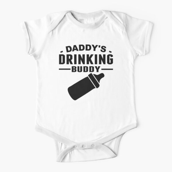 Daddy Drinking Buddy Drink Beer Milk Dad Papa Father Day Pops Toddler Infant T