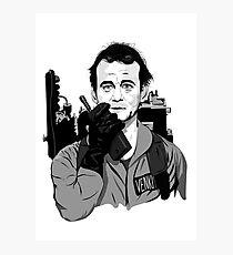 Ghostbusters Peter Venkman Bill Murray illustration Photographic Print