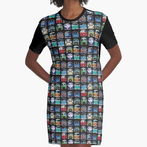 Bus Faces Graphic T-Shirt Dress