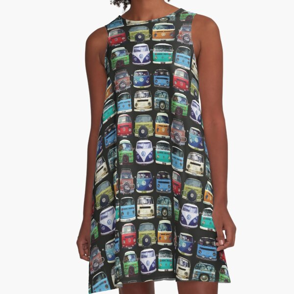Bus Faces A-Line Dress