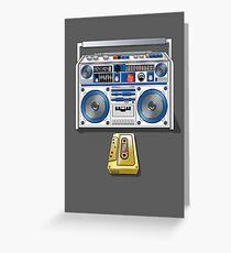 Retro Star Wars Boom box/Ghetto Blaster R2-D2 C-3PO Greeting Card