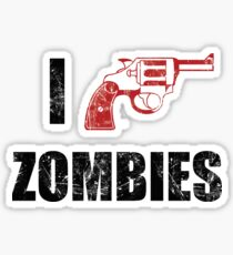I Shotgun Zombies/ I Heart Zombies  Sticker