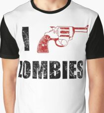 I Shotgun Zombies/ I Heart Zombies  Graphic T-Shirt