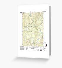 USGS Topo Map Washington State WA Steamboat Mountain 244007 1998 24000 Greeting Card