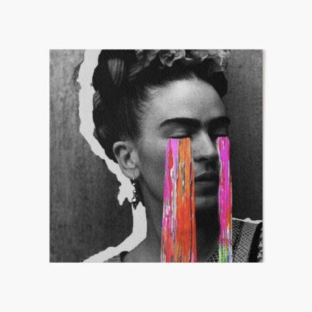 Black And White Frida Kahlo Art Board Print