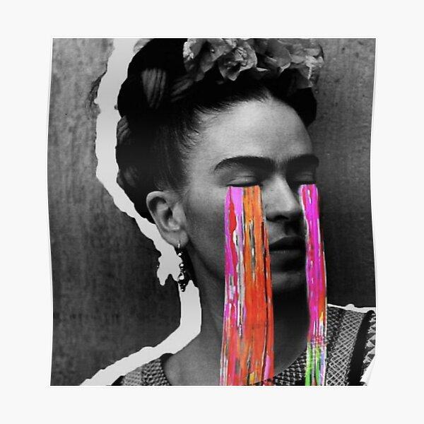 Black And White Frida Kahlo Poster