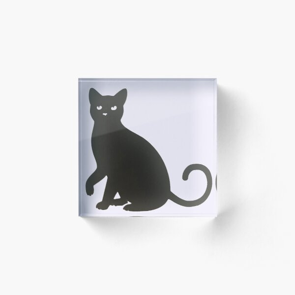 Black Cat. Acrylic Block