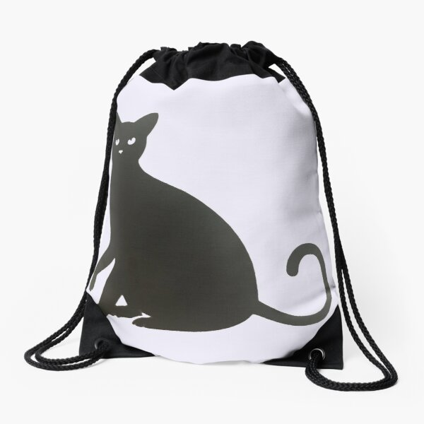 Black Cat. Drawstring Bag