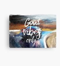 Good vibes only sport Metal Print