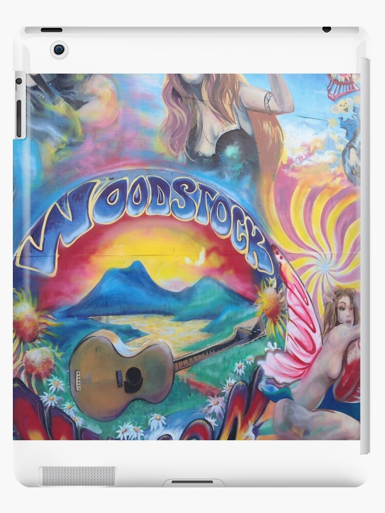 woodstock hippie paintings ipad cases skins by veronicabadley