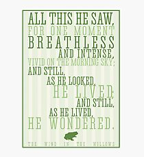 Wind in the Willows / Kenneth Graham Quote Photographic Print