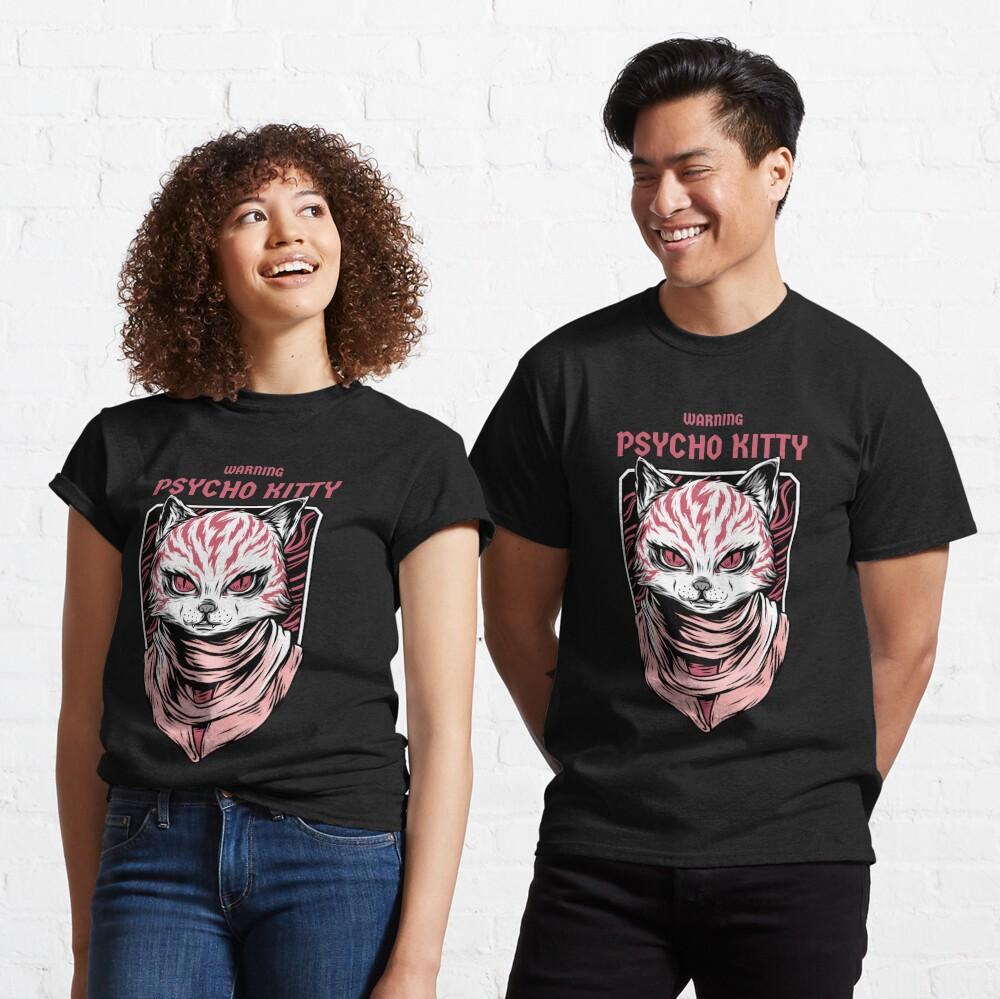WARNING - Psycho Kitty Classic T-Shirt