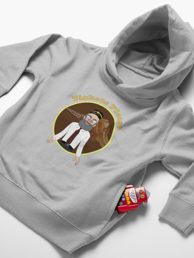 Alternate view of Tickets Please, Rick and Morty Toddler Pullover Hoodie