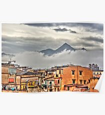 A Palermo city in the clouds Poster
