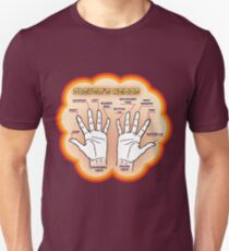 The player's hands. T-Shirt