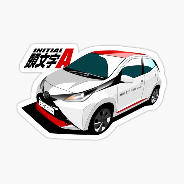 Initial A: Aygo-t a New Tofu Delivery System! (X-Press Edition) Sticker