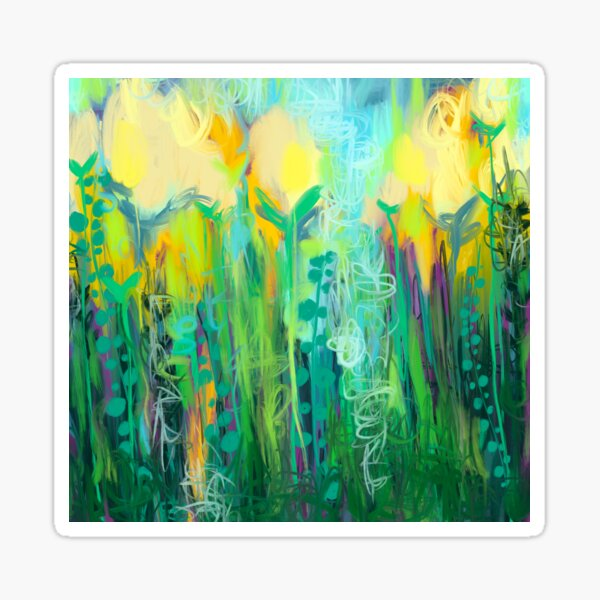 Yellow Tulip Meadow  Sticker