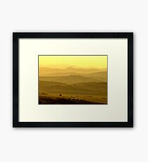 Hills At Dusk Framed Print