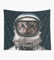 Space Catet Wall Tapestry