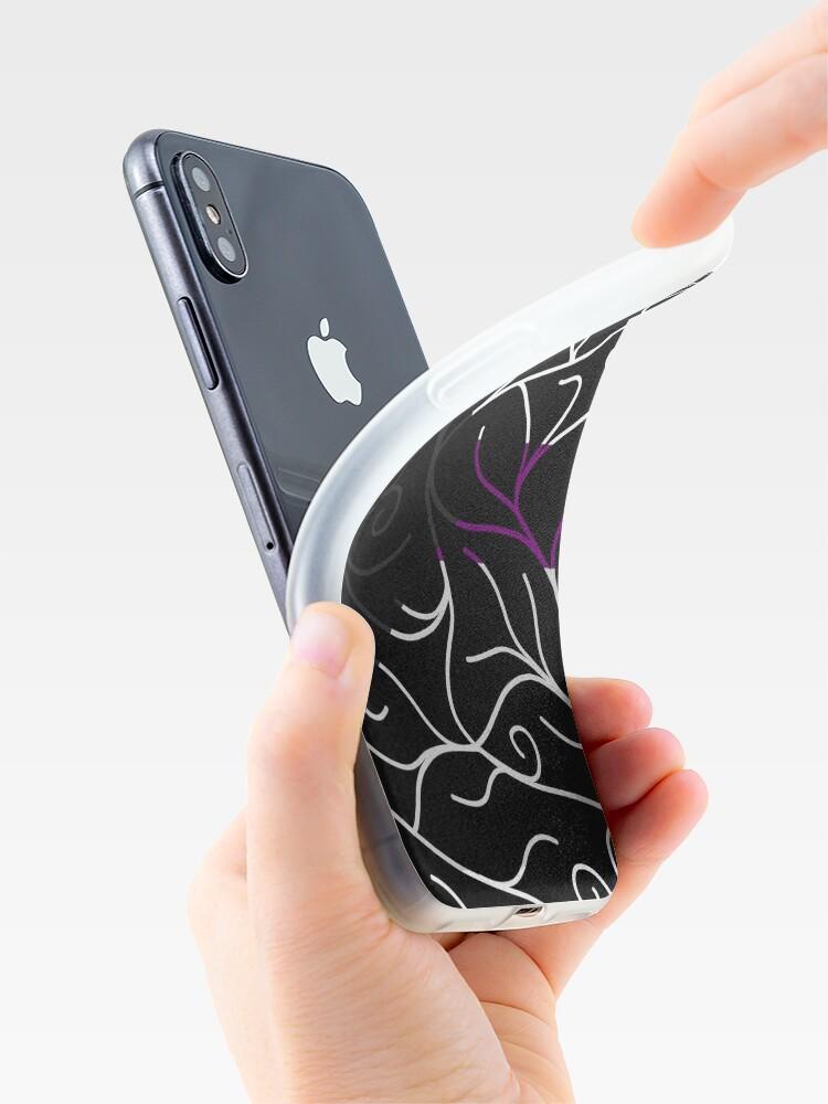Alternate view of Black Velvet, Demisexual Flag Vines iPhone Case & Cover