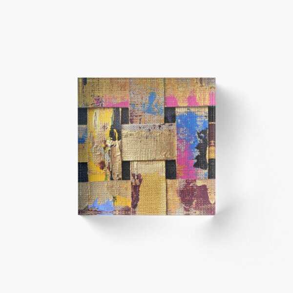 to give new life to those in assemblages. These assemblages have a graphic Acrylic Block