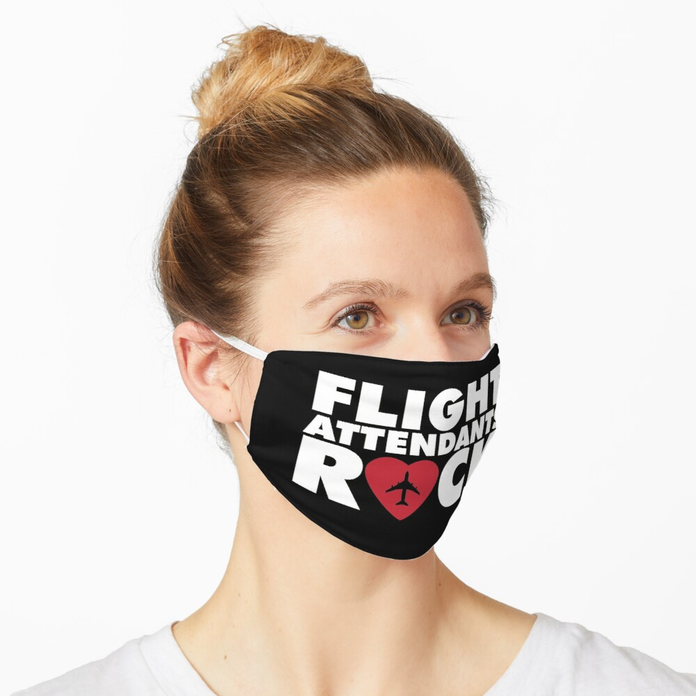 Flight Attendants rock with plane inside hearth Mask