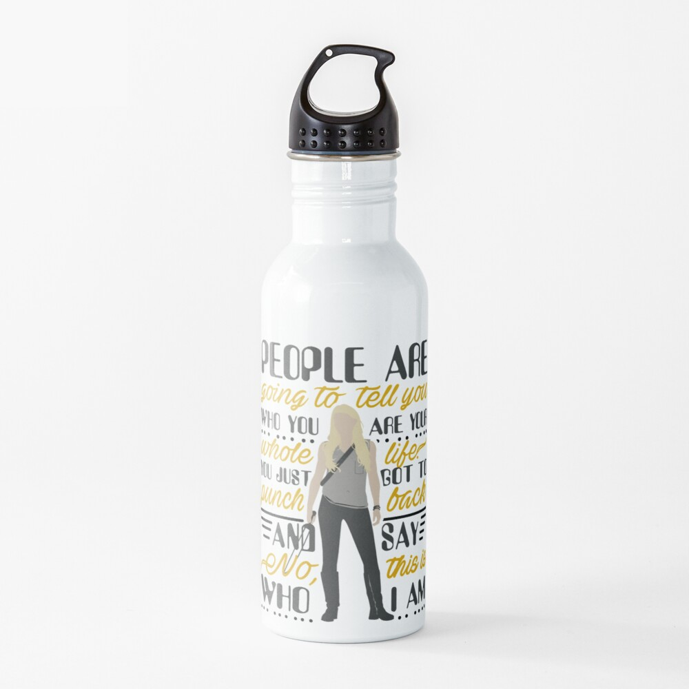 People are going to tell you... Quote Water Bottle