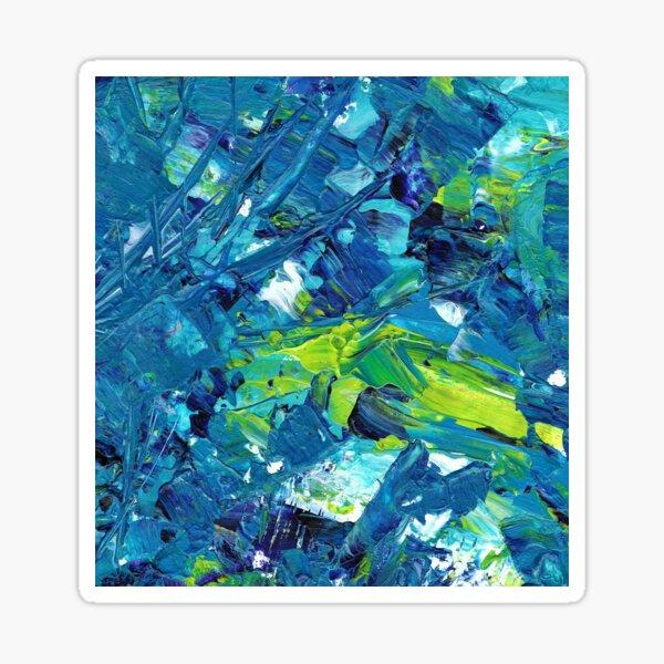 Blue Green Paint Sticker