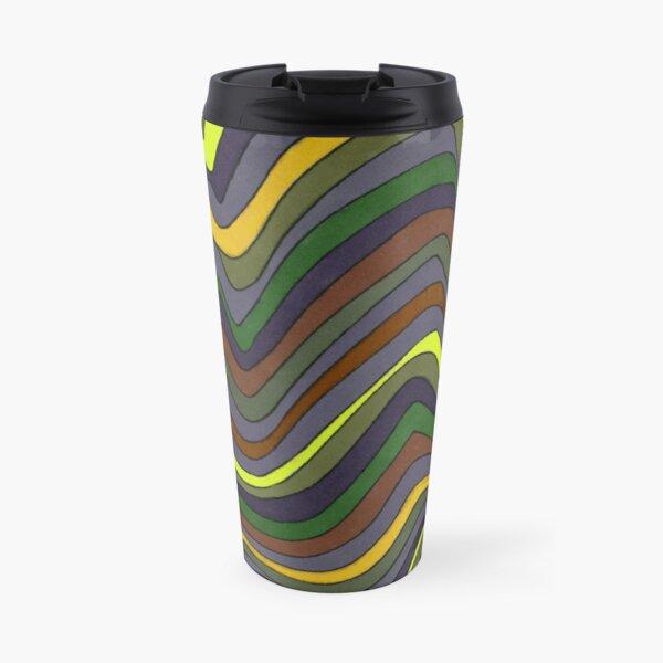 Psychedelic rainbow brown Travel Mug
