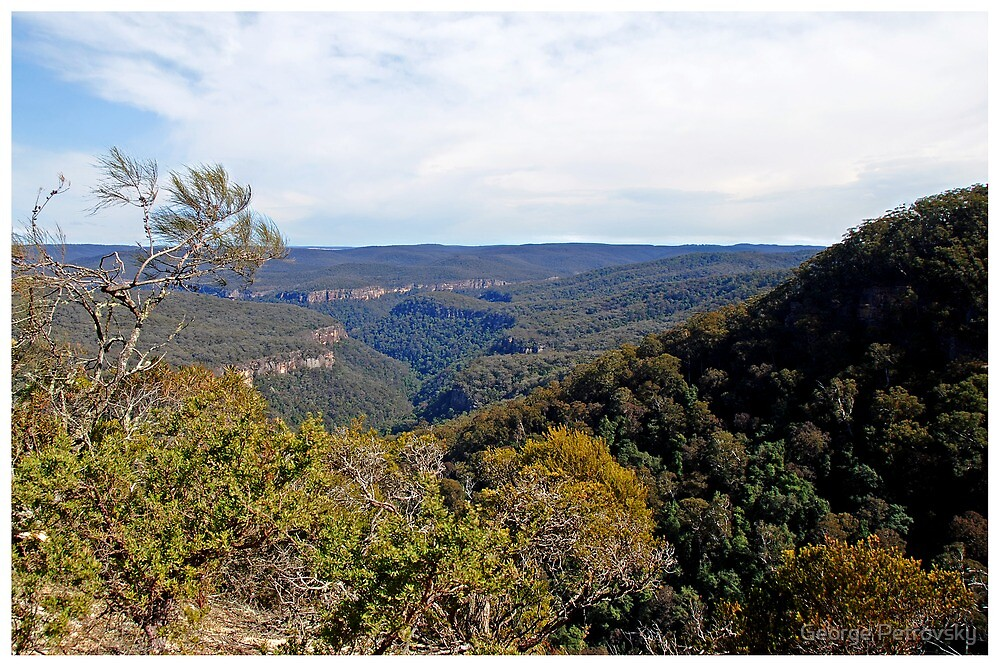 Moreton National Park from Echo Point. by George Petrovsky