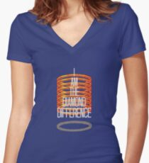 The Diamond Difference Women's Fitted V-Neck T-Shirt