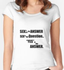 Sex is not the answer  Women's Fitted Scoop T-Shirt