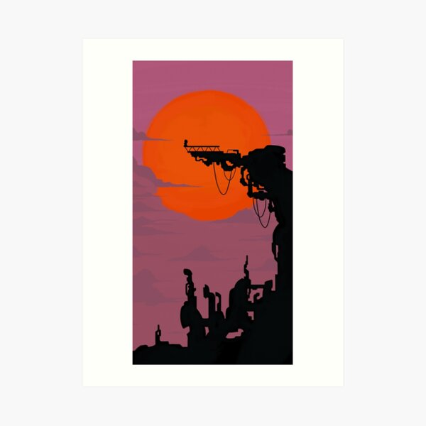 Catra Fright Zone Silhouette Lámina artística