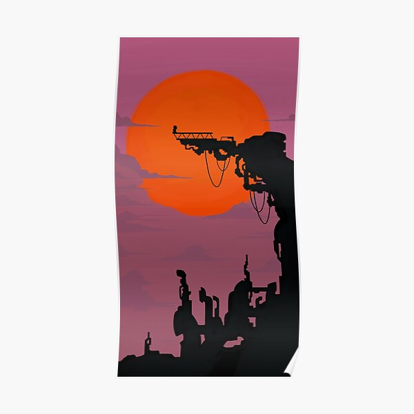 Catra Fright Zone Silhouette Poster