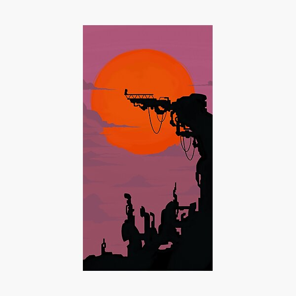 Catra Fright Zone Silhouette Photographic Print