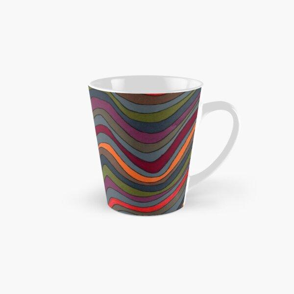 Psychedelic rainbow orange Tall Mug