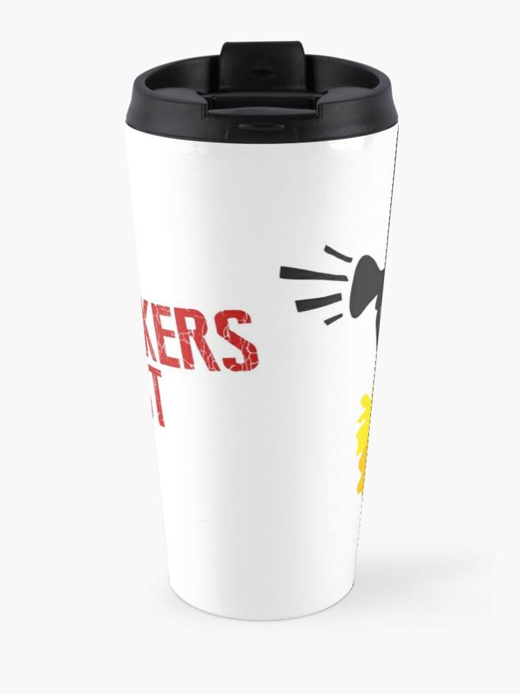 Alternate view of Large Logo Megaphone Travel Mug