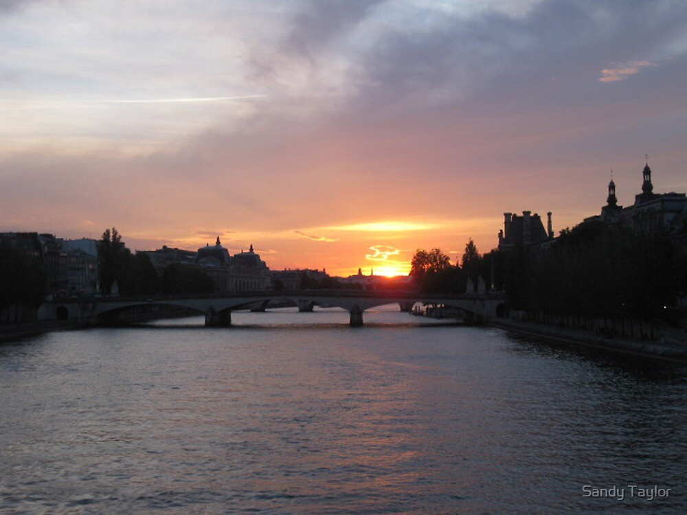 Sunset on the Seine by Sandy Taylor