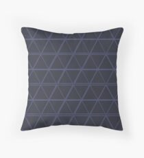 Beautiful Cushions/Blue Triangles Throw Pillow