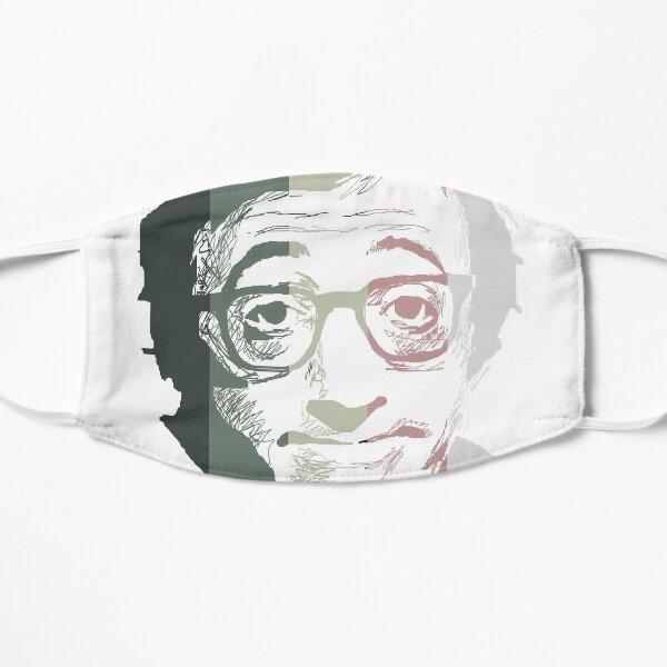 Woody Allen en rayas Mascarilla plana