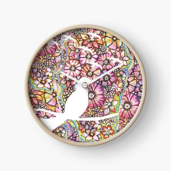 Flowerbirds Clock