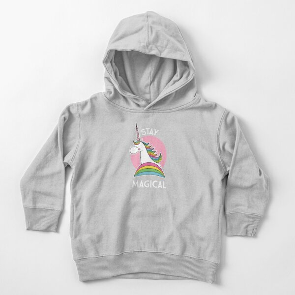 Rainbow Unicorn - Stay Magical Toddler Pullover Hoodie