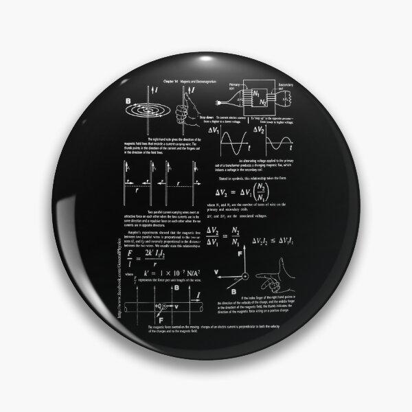 Copy of Physics, Magnets, Electromagnetism, magnetic, electric, current, tesla, weber, electromagnet, flux, pole, dipole Pin