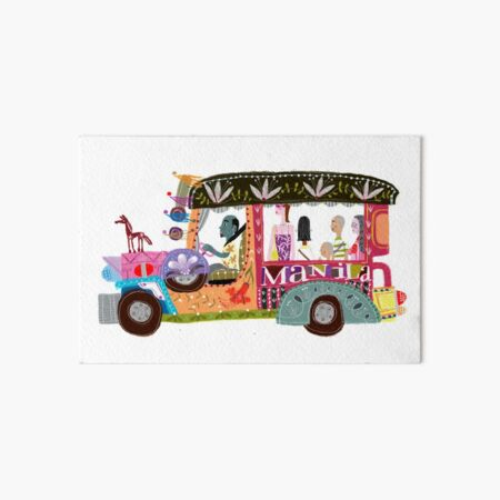 The iconic Philippine jeepney illustrated by Robert Alejandro Art Board Print