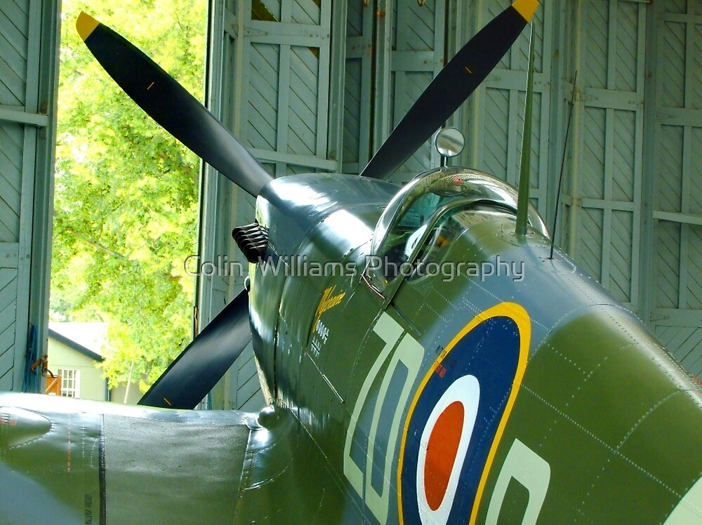 Spitfire Mk IX MH434 - Hanger 2 Duxford by Colin  Williams Photography
